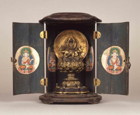 厨子入金銅製愛染明王坐像 重要文化財 厨子入金銅製愛染明王坐像 永仁五年(1297)称名寺蔵 こ